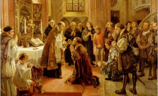 First Lutheran service in Brandenburg 1539