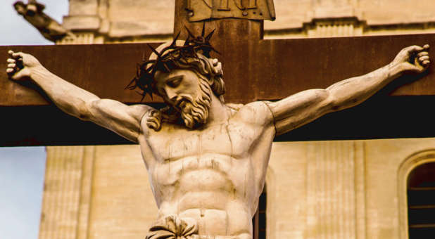 jesus-thorns-cross-sculpture